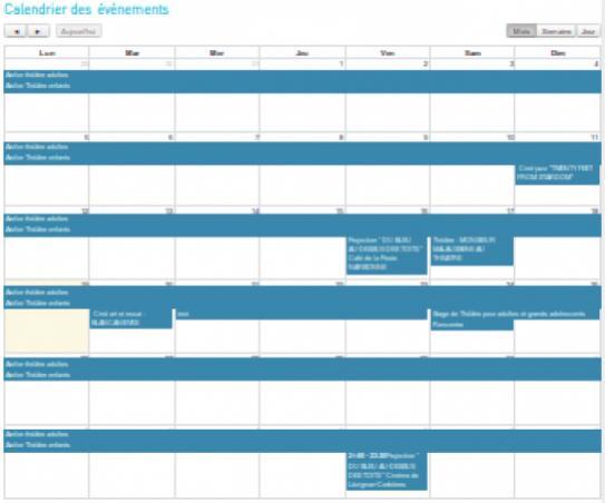 Agenda WikiMesclat Lien vers: BazarCalendrierEvenement